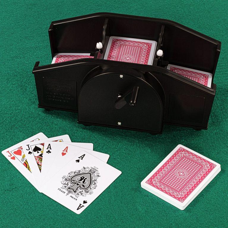 Pokerová sada, 600 žetonů + míchačka karet