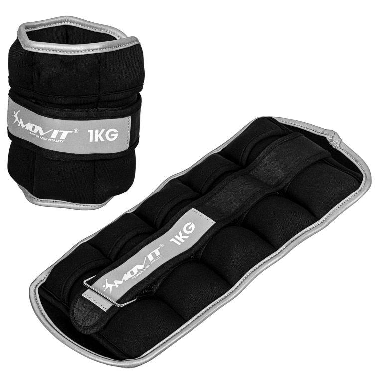 Movit neoprenové zátěžové manžety, 2 x 1 kg, černé