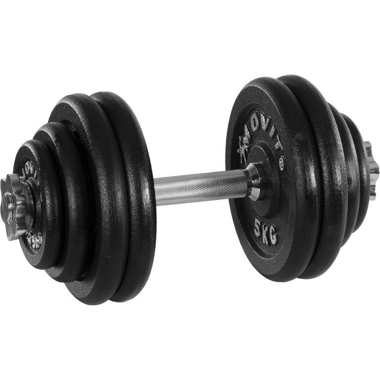 MOVIT Profesionální činka se závažím 30 kg, litina