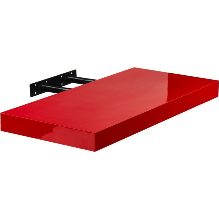 Stilista nástěnná police Volato, 100 cm, lesklá červená