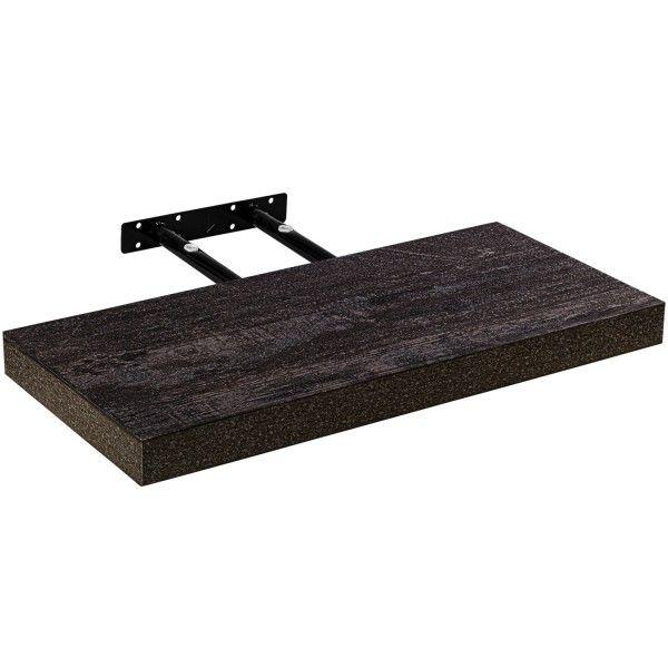 Stilista nástěnná police Volato, 50 cm, tmavé dřevo