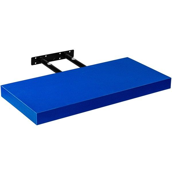 Stilista nástěnná police Volato, 30 cm, modrá