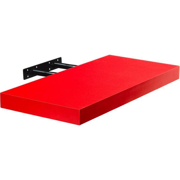 Stilista nástěnná police Volato, 80 cm, červená