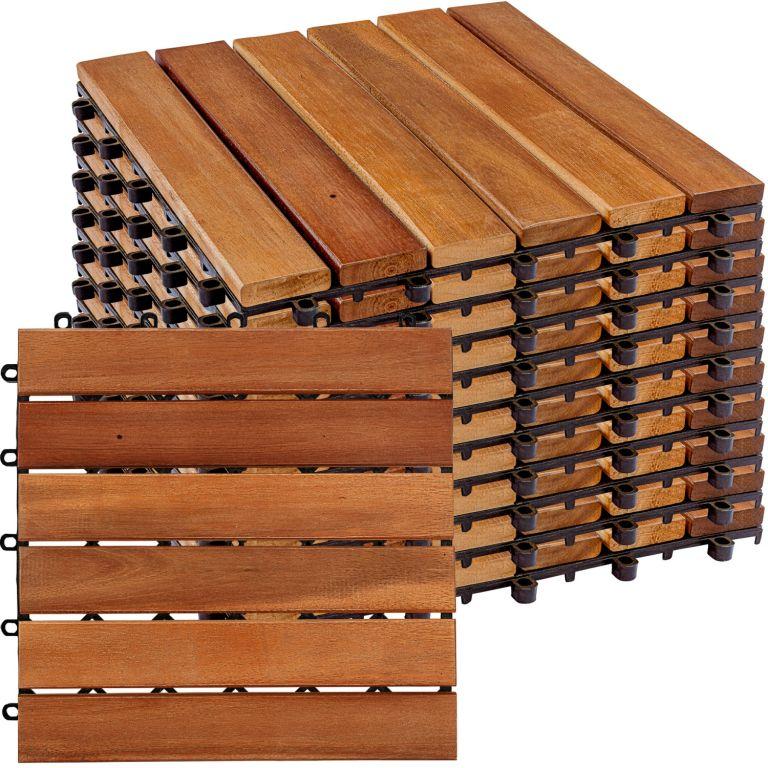 STILISTA dřevěné dlaždice, klasik, akát, 1 m²
