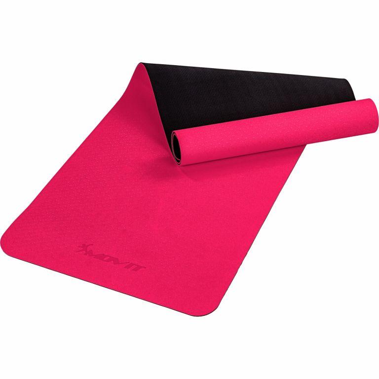 MOVIT Jóga podložka na cvičení, 190 x 60 cm, růžová