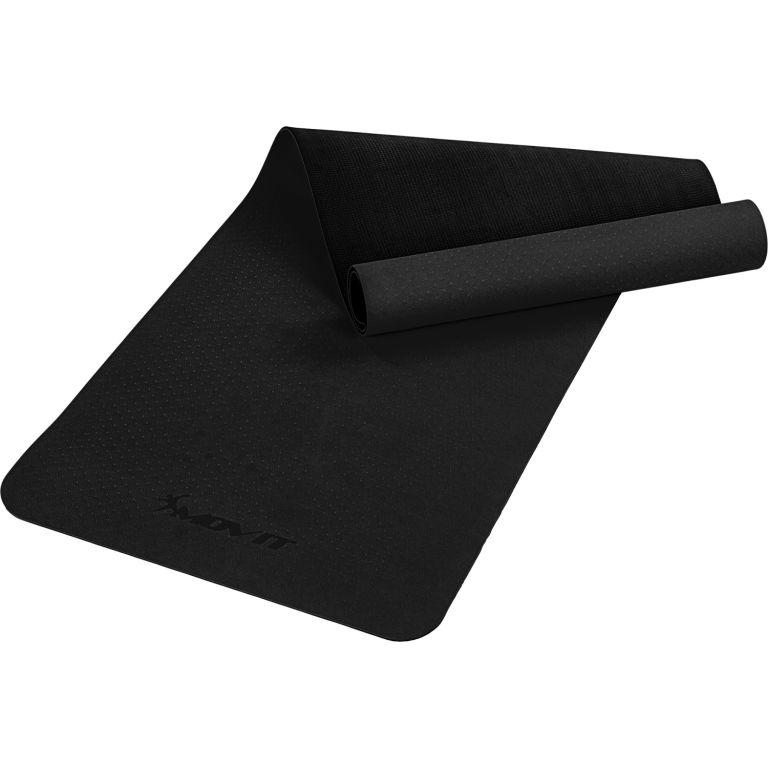 MOVIT Jóga podložka na cvičení, 190 x 60 cm, černá