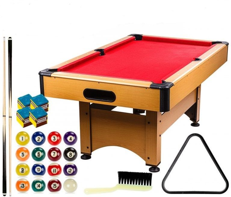 GamesPlanet Kulečníkový stůl 6 ft, červený s vybavením
