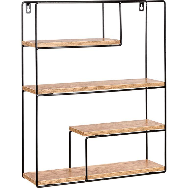 STILISTA Nástěnná police, sv. dřevo, 40 x 49,5 x 11,5 cm