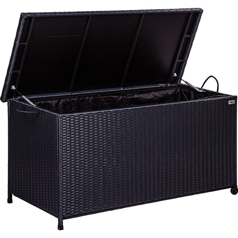 STILISTA Zahradní úložný box, černý, 122 x 62 x 56 cm
