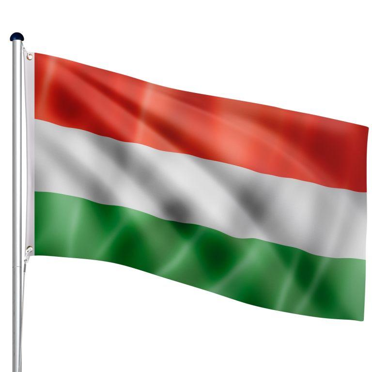 Vlajkový stožár vč. vlajky Maďarsko, 650 cm
