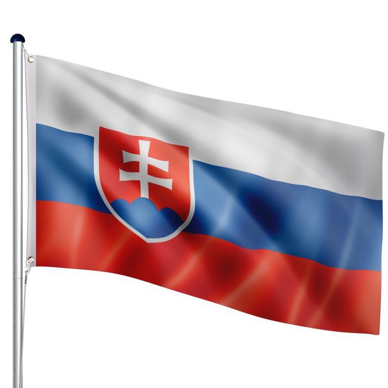 FLAGMASTER Vlajkový stožár vč. vlajky Slovensko, 650 cm