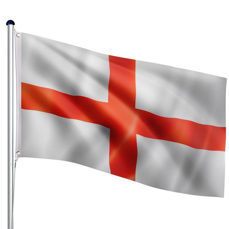FLAGMASTER Vlajkový stožár vč. vlajky Anglie, 650 cm