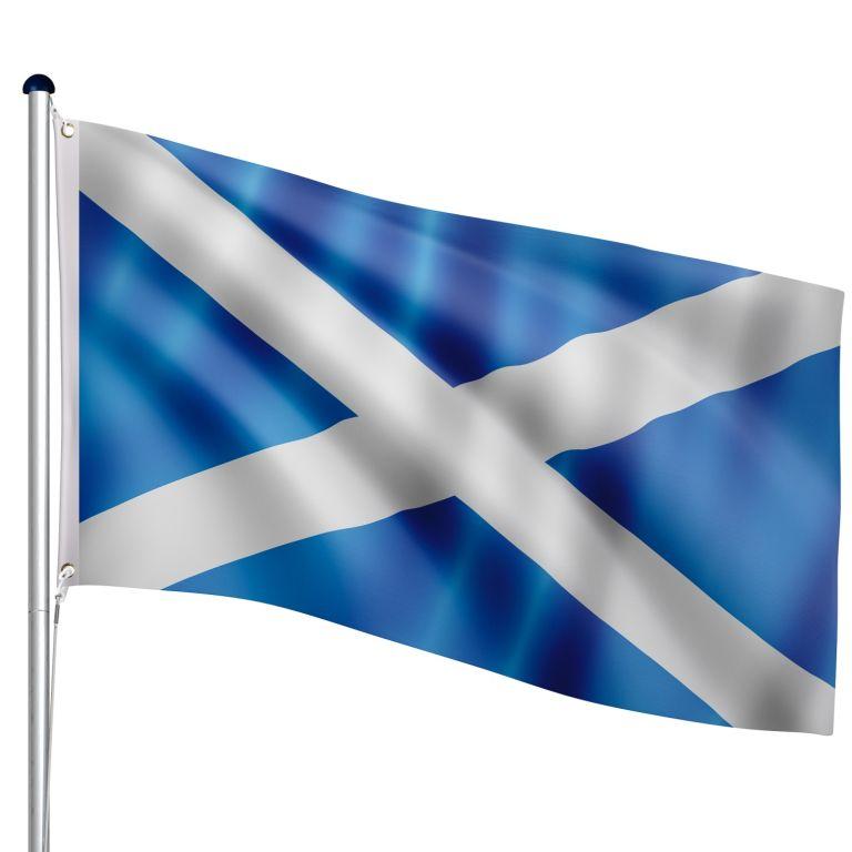FLAGMASTER Vlajkový stožár vč. vlajky Skotsko, 650 cm