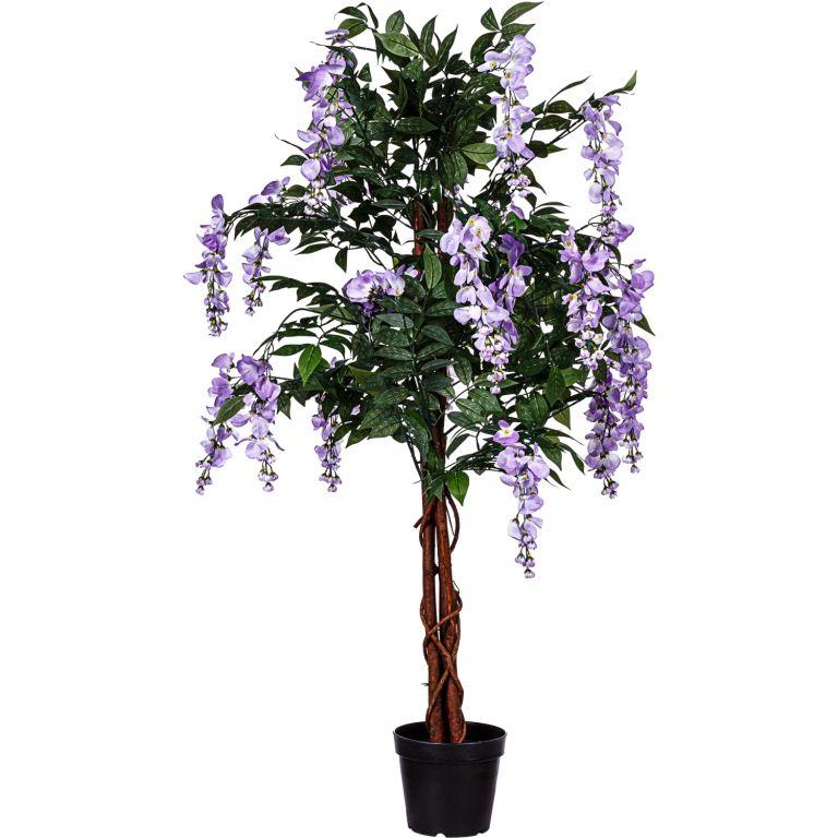 PLANTASIA Umělý strom Vistárie 120 cm, modrofialové květy