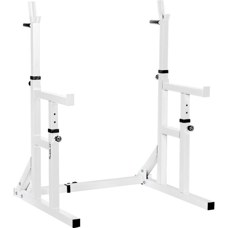 MOVIT Stojan na dřepy, bílý, nosnost 300 kg