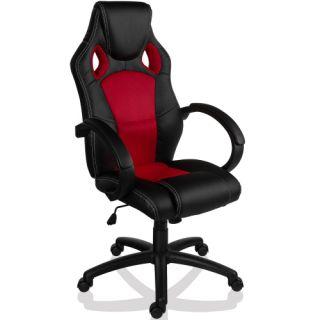 Otočná kancelářská židle ČERVENÁ MX Racer