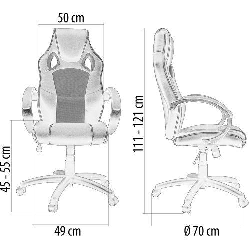 Otočná kancelářská židle MX Racer VÍNOVÁ červená