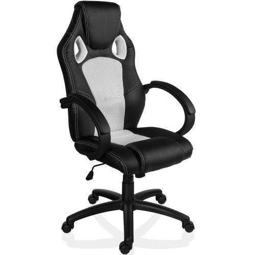 Otočná kancelářská židle BÍLÁ MX Racer