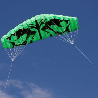 Létající drak - kite 200 x 70 cm zelený
