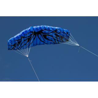 Létající drak - kite 200 x 70 cm modrý