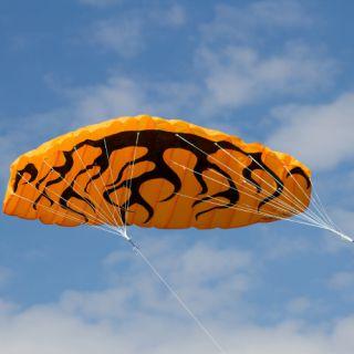 Létající drak - kite 200 x 70 cm oranžový