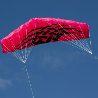Létající drak - kite 200 x 70 cm růžový