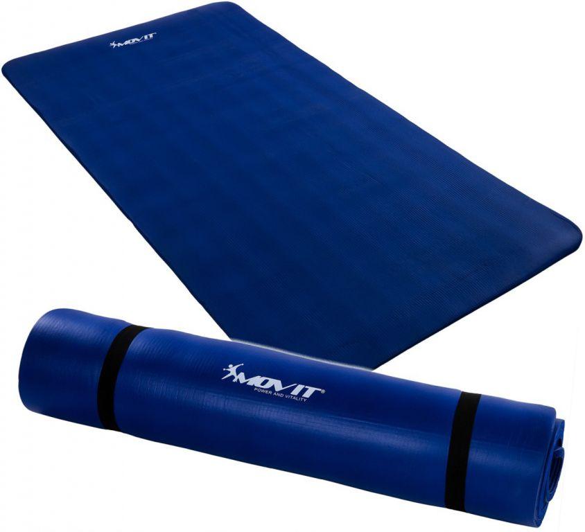 Jóga podložka na cvičení MOVIT 190 x 100 x 1,5 cm - královská modrá
