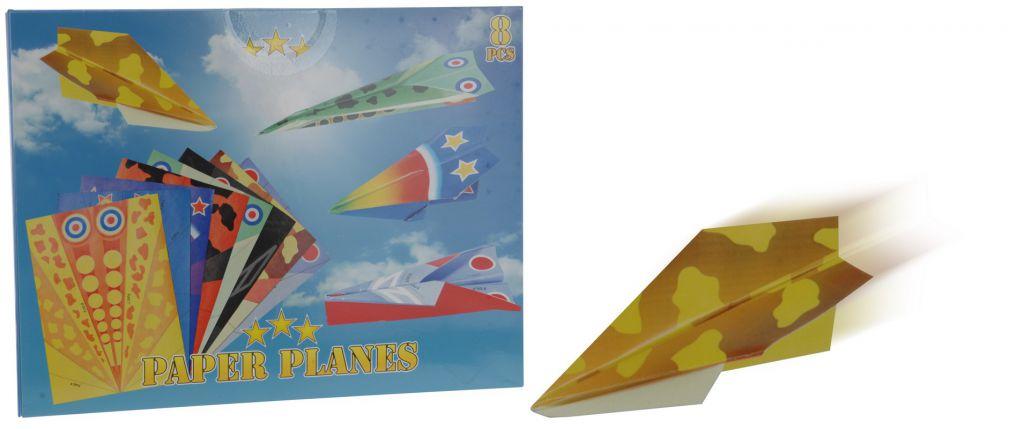 Papírové házecí letadlo - 8 ks v balení