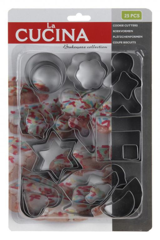 Vánoční cukroví - vykrajovací formičky 25 ks