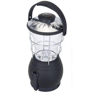 Kempingová LED lucerna s dynamem a kompasem - 12 x LED