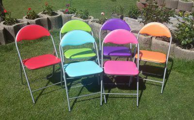 Praktické skládací židle COLOR - 6 barev