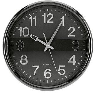 Nástěnné hodiny KLASIC 37 cm - TMAVĚ ŠEDÉ