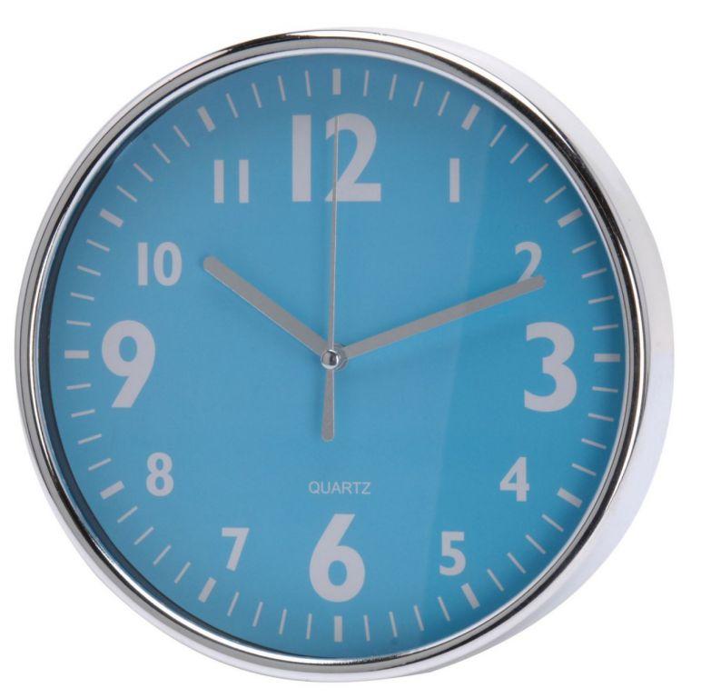 Nástěnné hodiny 20 x 3,6 cm - MODRÉ