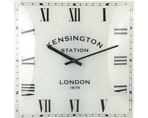 Nástěnné zakřivené hodiny KENSINGTON 31 x 31 cm - římské