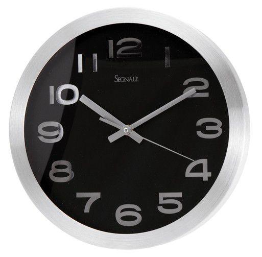 Nástěnné hodiny TITANIUM velké 30,4 cm - ČERNÁ