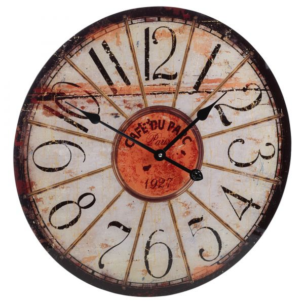Nástěnné hodiny ROUND 57 cm - CAFÉ