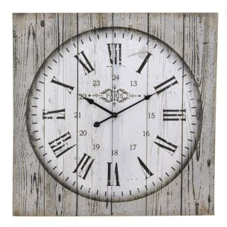 Nástěnné hodiny na plátně 60 x 60 x 2,5 cm PAŘÍŽ