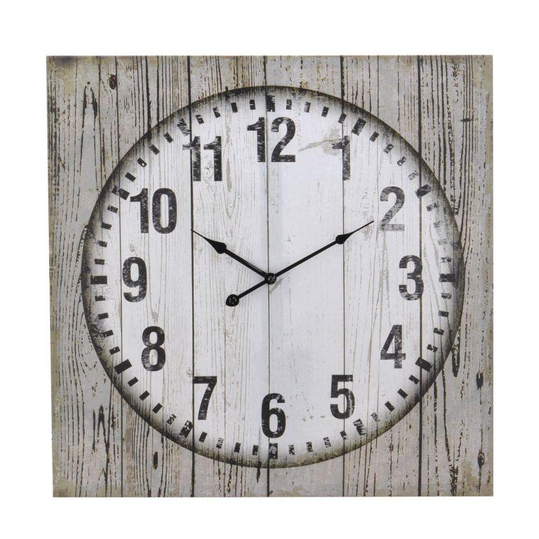 Nástěnné hodiny na plátně 60 x 60 x 2,5 cm CLEAR