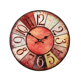 Kulaté nástěnné hodiny Shabby Chic 38 cm - AUTUMN