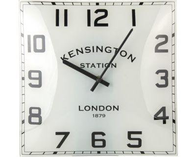 Nástěnné zakřivené hodiny KENSINGTON 31 x 31 cm