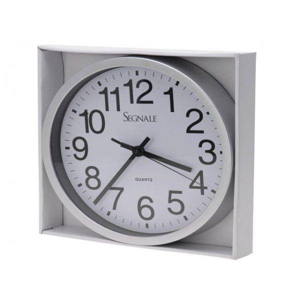 Nástěnné moderní hodiny 25 cm - BÍLÁ