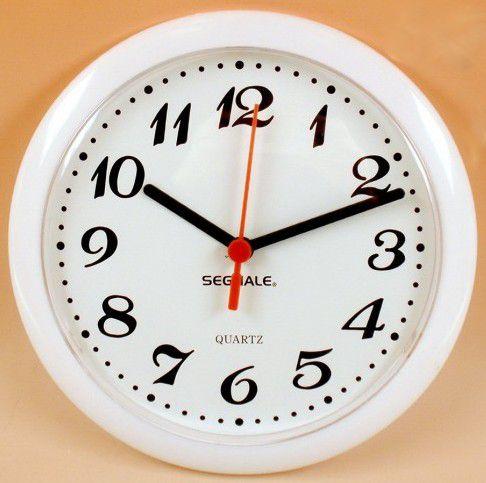 Nástěnné hodiny ROMANCE 20 cm - BÍLÉ