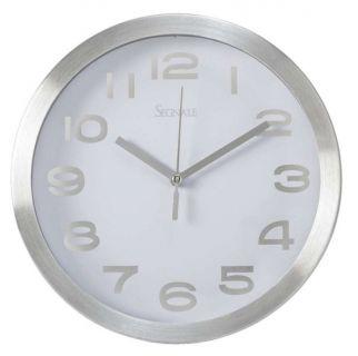 Nástěnné hodiny TITANIUM malé 20,3 cm - BÍLÁ