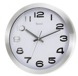 Nástěnné hodiny TITANIUM velké 30,4 cm - BÍLÁ
