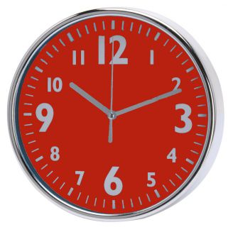 Nástěnné hodiny 20 x 3,6 cm - ČERVENÉ
