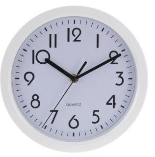 Nástěnné hodiny SOLID 22 cm - BÍLÁ