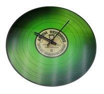 Nástěnné skleněné hodiny VINYL 35 cm - ZELENÉ
