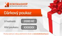Dárkový poukaz na nákup v hodnotě 2000,- Kč