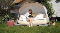 Luxusní relaxační pohovka s plážovou stříškou DEKOVITA
