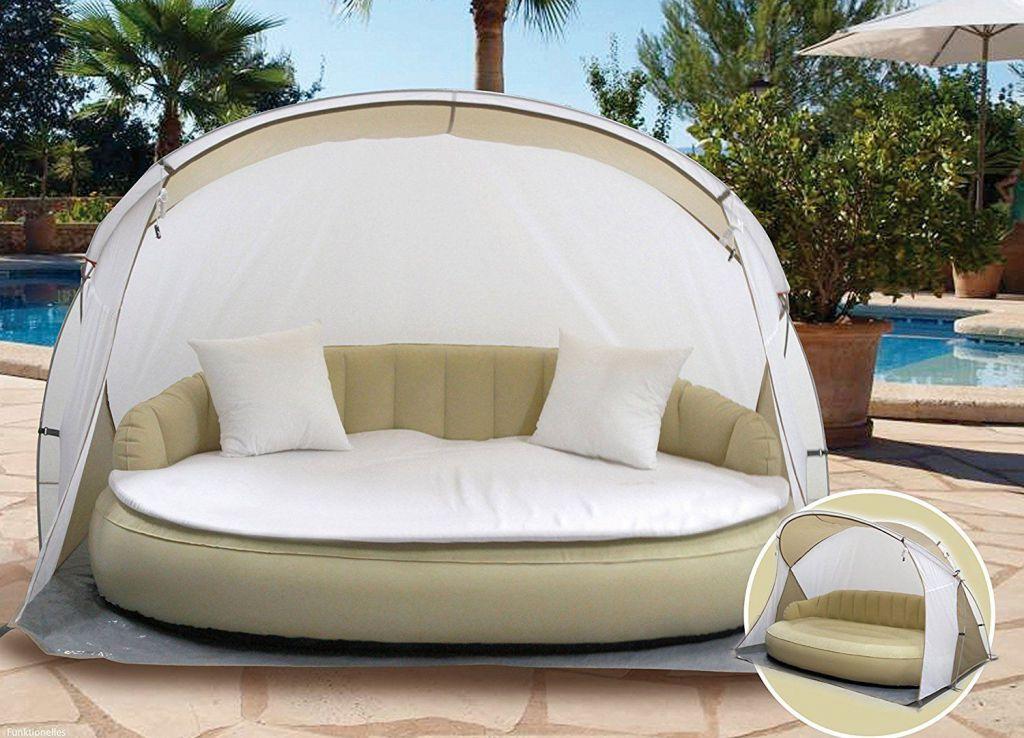Luxusní nafukovací pohovka s plážovou stříškou DEKOVITA - Kokiska EX43250